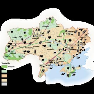 Ukraine Economic map