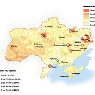 Ukraine Population map