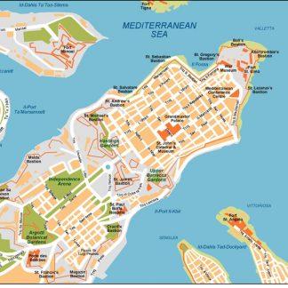 Valleta Vector Map