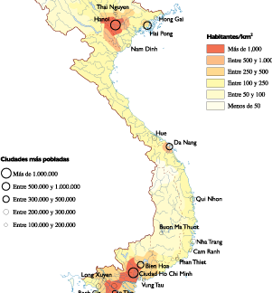 Vietnam Population map