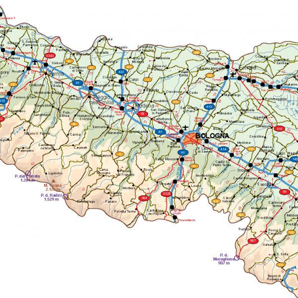 Emilia Romagna Vector Map