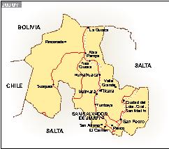 Mapa Jujuy