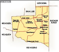 Mapa La Pampa