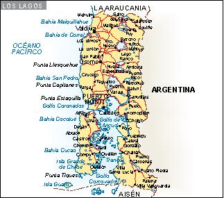 Mapa Los Lagos