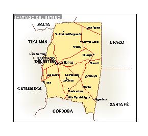 Mapa Santiago del Estero