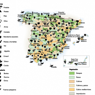 Spain Land Use map