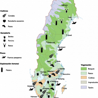 Sweden Land Use map