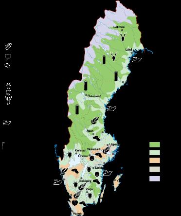 Sweden Land Use map