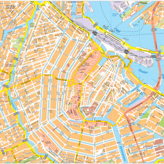 Amsterdam Vector EPS Map