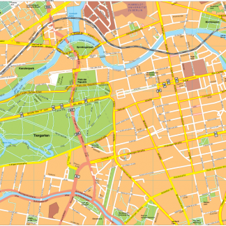 Berlin Vector EPS Map