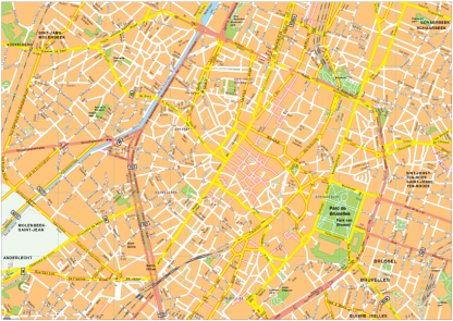 Bruselles Vector EPS Map