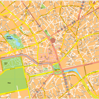 Bucarest Vector EPS Map