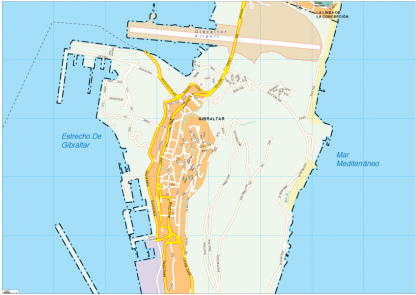 Gibraltar Vector EPS Map