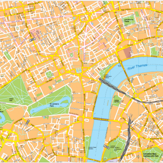 London Vector EPS Map