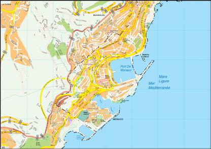Monaco Vector EPS Map
