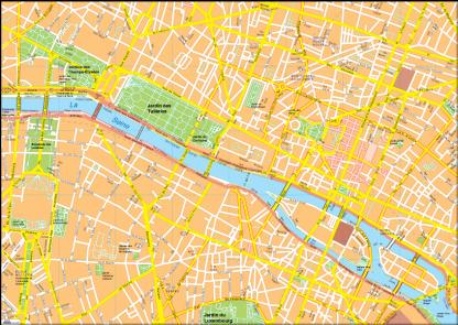 Paris Vector EPS Map