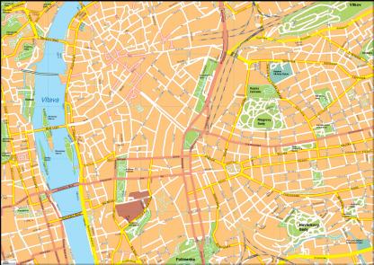 Prague Vector EPS Map