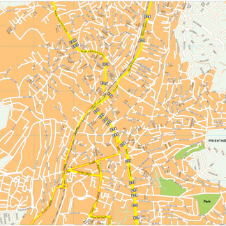 Prishtina Vector EPS Map