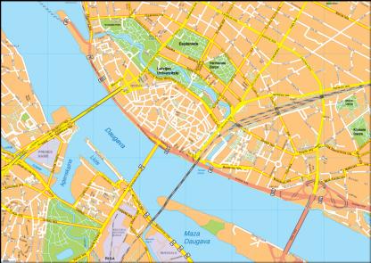 Riga Vector EPS Map