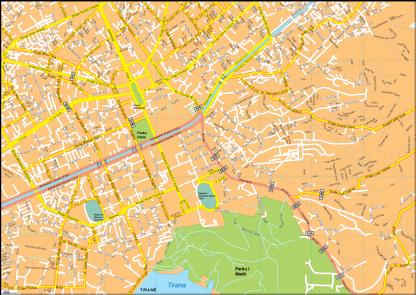 Tirana Vector EPS Map
